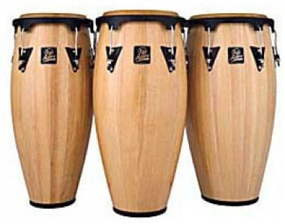 Congas Latin Percussion Aspire natural wood
